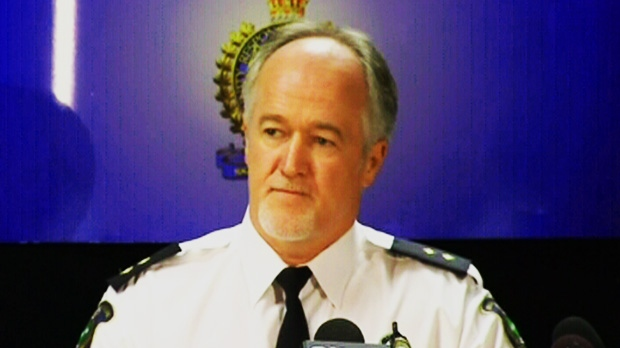 Niagara police Insp. Jim McCaffery holds a press conference on Friday, Aug. 31, 2012.
