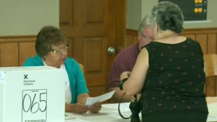 A voter casts a ballot in the Vaughan by-election on Thursday, Sept. 5, 2012.