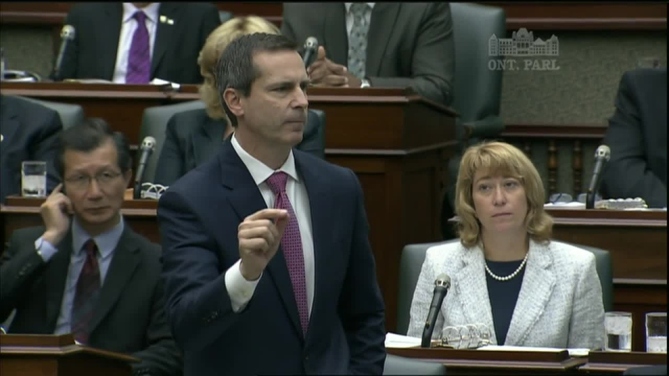 Ontario Premier Dalton McGuinty speaks in Queen's Park after the Liberals and Progressive Conservatives teamed up to pass the legislation on Tuesday, Sept. 11, 2012
