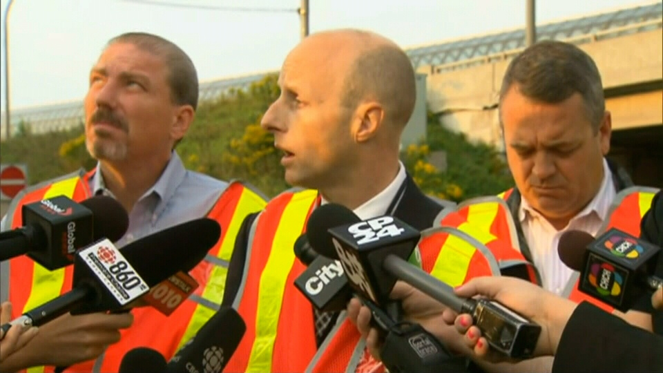 TTC CEO Andy Byford makes a statement about the death in Toronto, Friday, Sept. 14, 2012.
