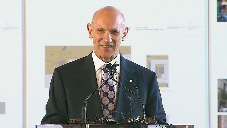 Theatre impresario David Mirvish speaks during a press conference in Toronto, Monday, Oct. 1, 2012.