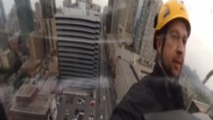 360 view, tower rappel