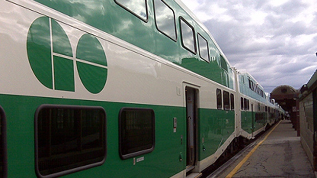 A GO Transit train is seen in this undated file photo. (Perry St. Germain/CP24.com)