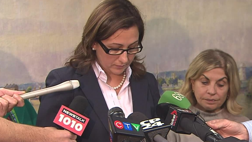 Toronto Coun. Ana Bailao makes a statement on the impaired driving charges on Wednesday, Oct. 17, 2012